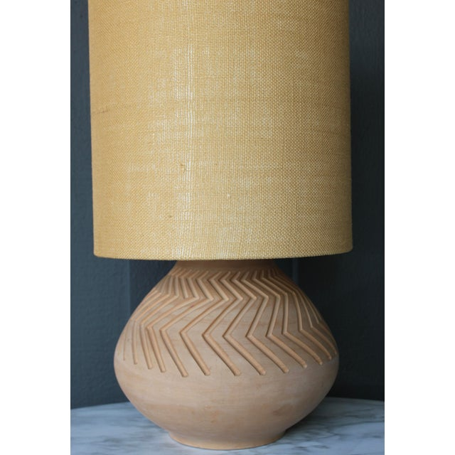 Native American Art Pottery Lamp - Image 9 of 11