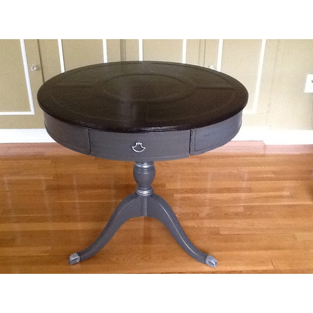 Upcycled Vintage Drum Table For Sale In New York - Image 6 of 11