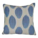 Image of Blue Turkish Ikat Pillow 16'' For Sale