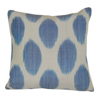 Blue Turkish Ikat Pillow 16'' For Sale