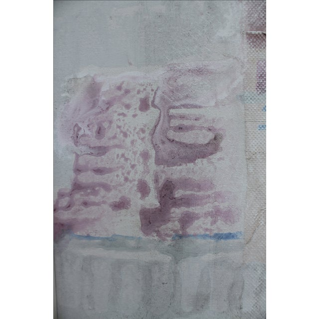 Lee Yoling Texture Oil and Watercolor Abstract Painting For Sale In Miami - Image 6 of 11