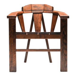 Walnut Craftsman Chair - 1960s For Sale