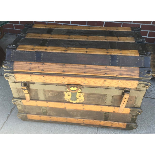Antique Stagecoach Trunk Steamer For Sale - Image 13 of 13