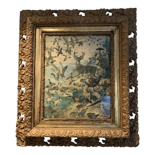 Early 20th Century Antique Lynn Bogue Hunt Wildlife Print For Sale
