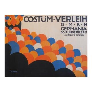 Rare 1910 Julius Klinger Colourful Costume Poster