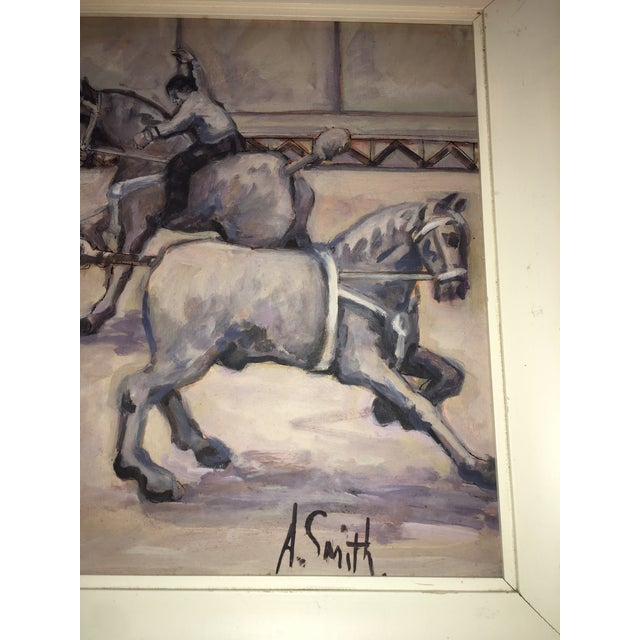 Arthur Smith 'Trick Riding' Original From Circus Series Painting For Sale - Image 10 of 12