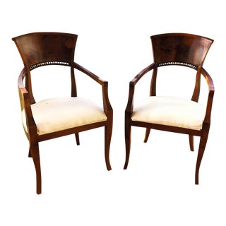 1980s Vintage Mantovani Raffaello and Franco Italian Chairs - a Pair For Sale