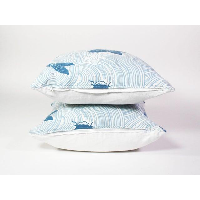 """Kravet Jeffrey Allen Marks Custom Made Designer Tropical Koi Pillow Pair - 18""""x18"""" For Sale - Image 4 of 7"""