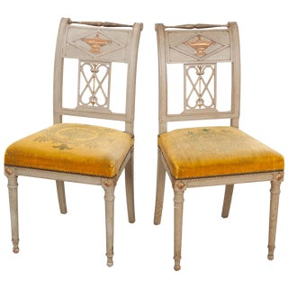 French 19th Century Neoclassical-Style Side Chairs - a Pair For Sale