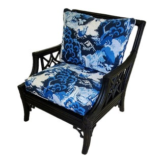 Chinoiserie Boho Chic Armchair For Sale