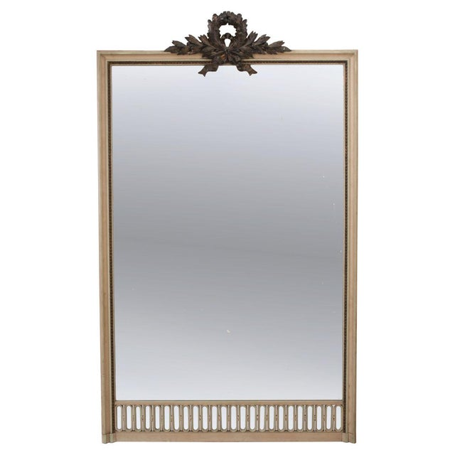French 19th Century Tall Painted Mantle Mirror For Sale - Image 10 of 10