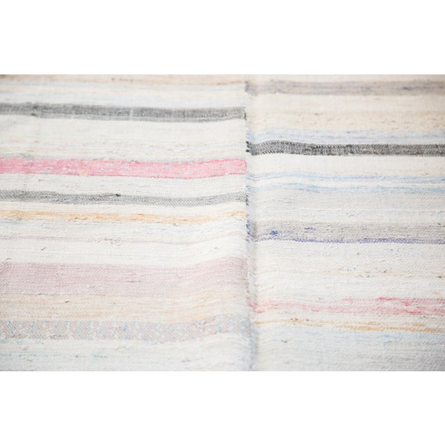 "Vintage Rag Rug Carpet - 6'6"" X 10'10"" - Image 5 of 7"