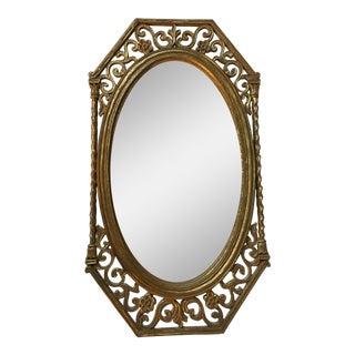 Vintage Syroco Oval Gold Gilt Mirror