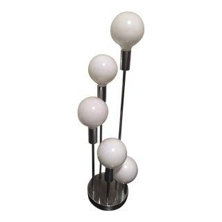 1970 Robert Sonnemen Chrome 5 Globe Lamp For Sale