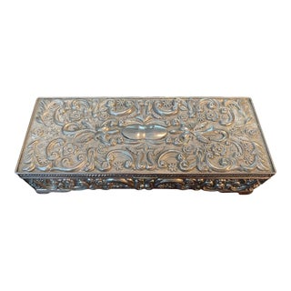 Baroque Silver Jewelry Box For Sale