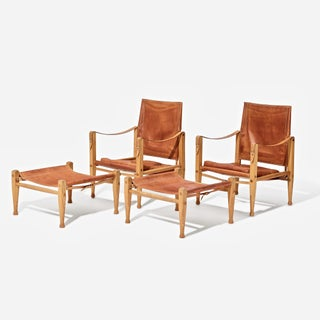 Kaare Klint Safari Chairs and Footstools, Rud Rasmussen, Denmark, 1960s Preview
