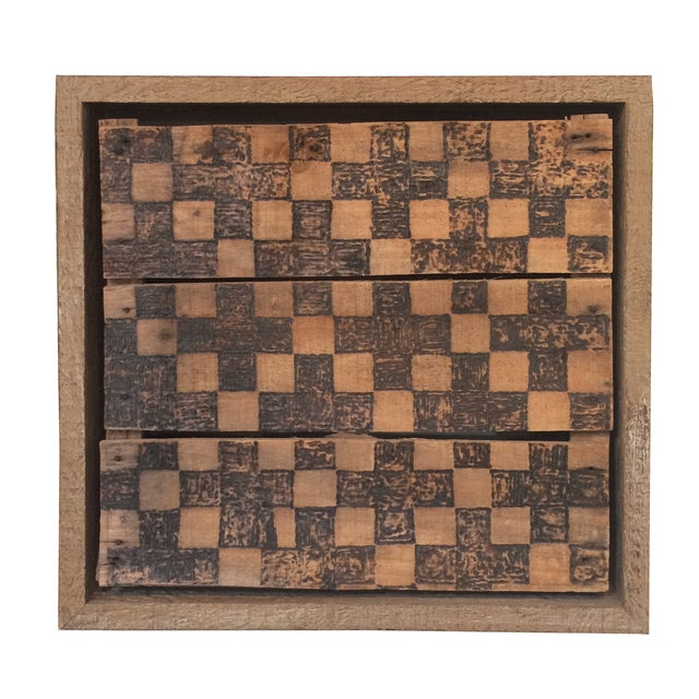 Wooden Checkerboard Wall Art by Billy Turtle - Image 1 of 2
