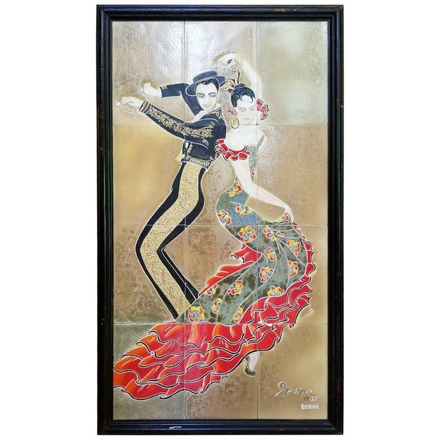1955 Tango Dancers Wall Tile For Sale - Image 11 of 11