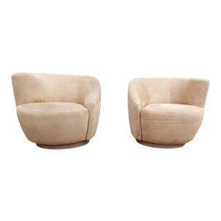 Vladimir Kagan Nautilus Chairs - a Pair For Sale