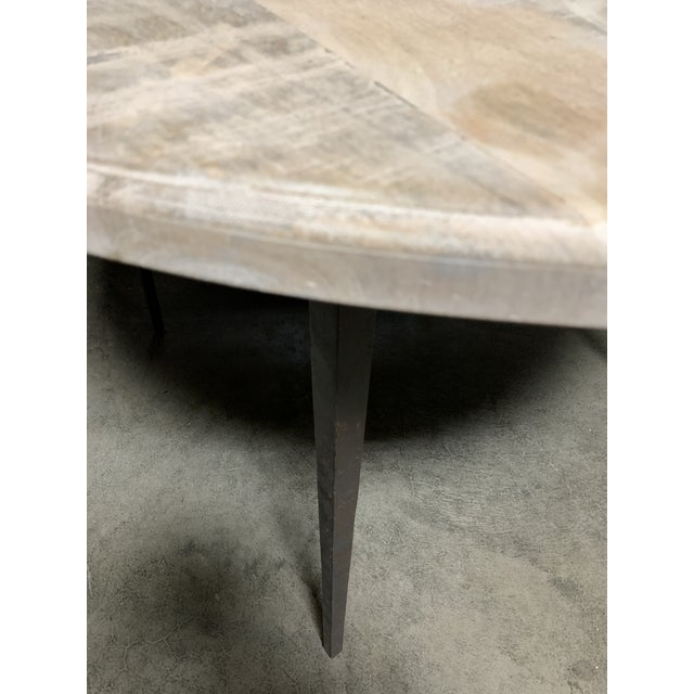 Mid-Century Modern Contemporary Style Farmhouse Dining Table For Sale - Image 3 of 5