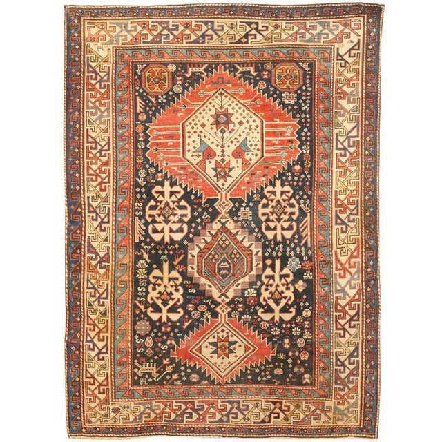 Antique 19th century Caucasian Shriven rug. Contact dealer. Excellent condition.