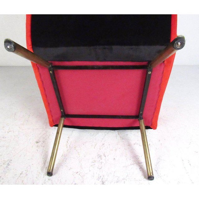 Gio Ponti Italian Modern Sculptural Lounge Chairs - A Pair For Sale - Image 4 of 11