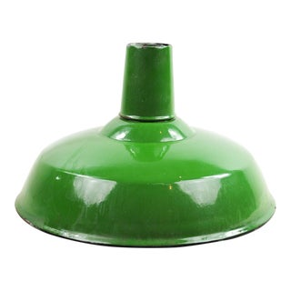 Appleton Porcelain Green & White Enamel Light Shade