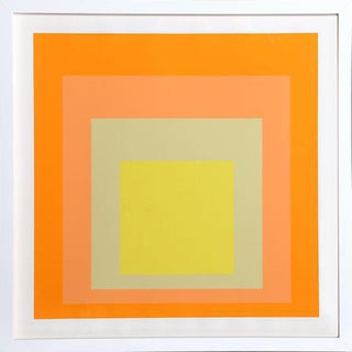 """Josef Albers """"Interaction of Color: Homage to the Square"""" Screen Print"""