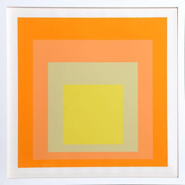 "Josef Albers ""Interaction of Color: Homage to the Square"" Screen Print - Image 1 of 2"