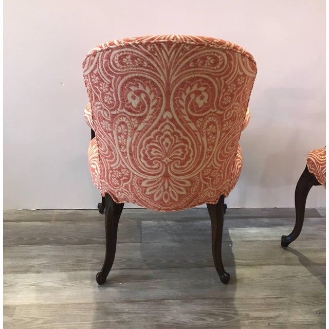 1920s Traditional Mahogany Bergere Chairs - a Pair For Sale In Philadelphia - Image 6 of 10