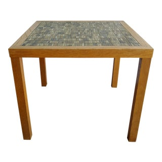 Mid Century Modern Martz Tile Top Oak Table For Sale