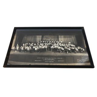 1930s Vintage Framed Detroit Junior Orchestra Photograph For Sale