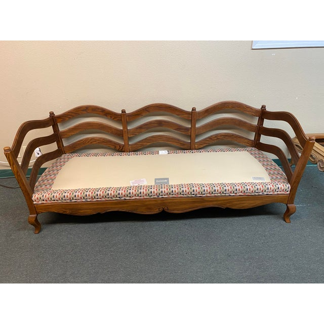 Chestnut Thomasville French Country Reproduction Sofa /Daybed For Sale - Image 8 of 12