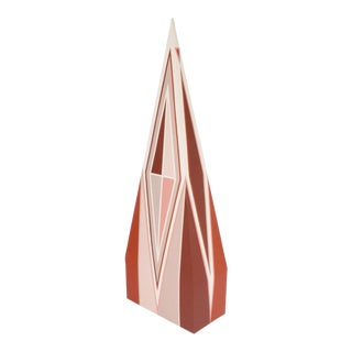 1970s Vintage Bevlyn Simson Geometric Painted Sculpture For Sale