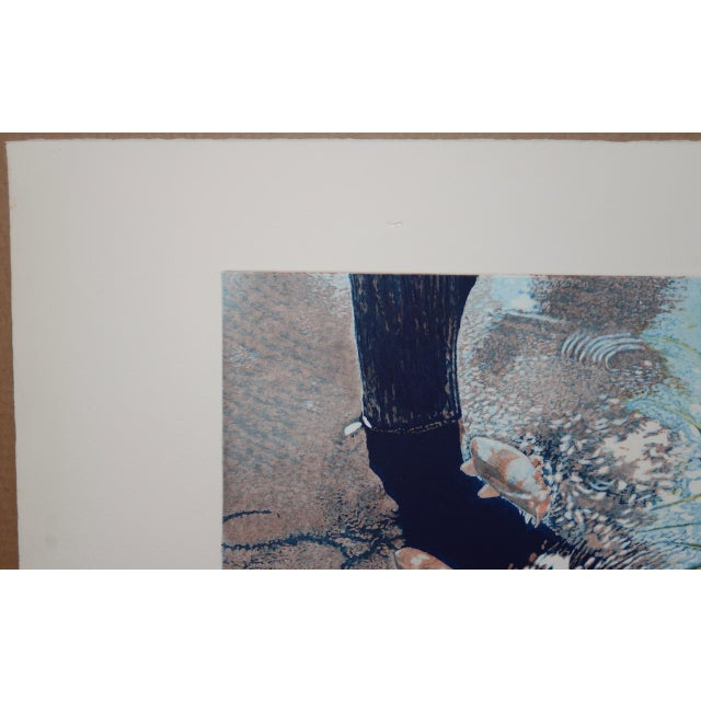 """1980s Vintage Koi Pond """"Second June"""" Etching W/ Aquatint by Thadd Evans C.1986 For Sale - Image 5 of 11"""
