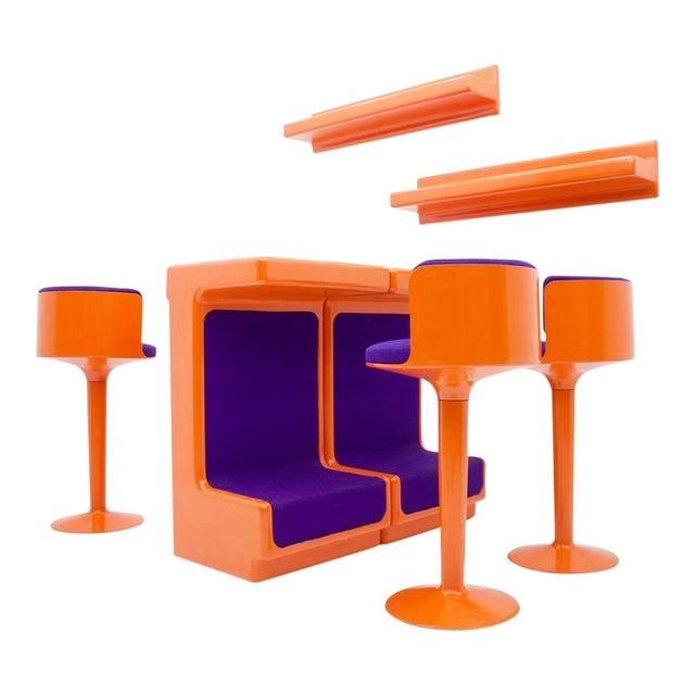 Fiberglass Bar Set by Wolfgang Feierbach, Germany 1974 For Sale