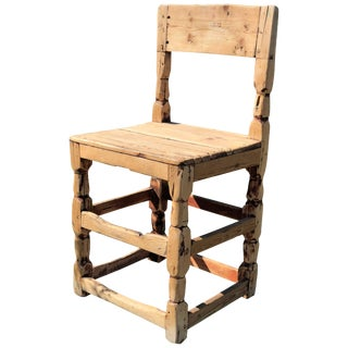 Early 19th Century Swedish Wooden Chair For Sale