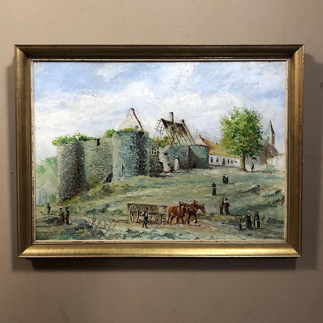 Framed Oil Painting on Canvas For Sale - Image 11 of 11