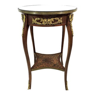 Vintage Louis XV Style Two-Tier Ormolu Center or Occasional Table For Sale