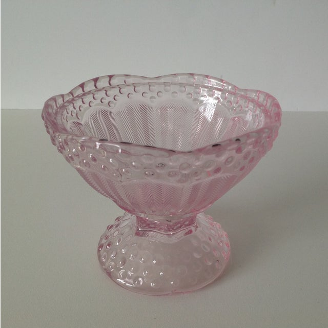 Pink Dome-Lidded Hobnail Candy Dish - Image 5 of 8
