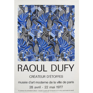 1977 Original French Exhibition Poster - Musée d'Art Moderne De La Ville De Paris, Raoul Dufy For Sale