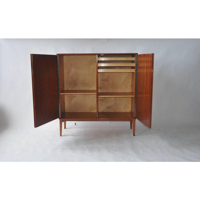Mid-Century Modern 1950s Botanical Print Swedish Cabinet For Sale - Image 3 of 7