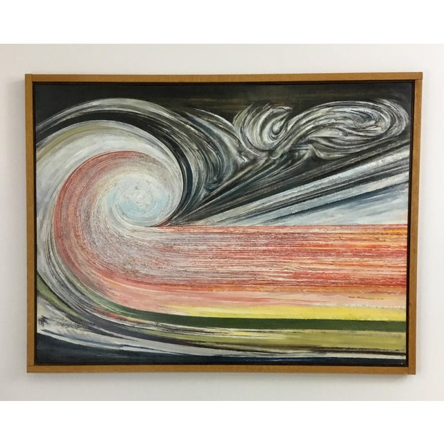 1990s Oil Painting by Niels Michaelsen For Sale - Image 9 of 9
