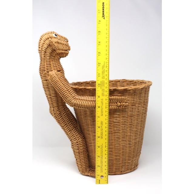 Tan Mario Lopez Torres Monkey Waste Basket or Trash Can For Sale - Image 8 of 9