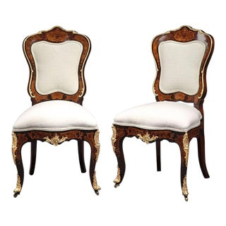 Mid 19th Century Louis XV Style Side Chairs - A Pair For Sale