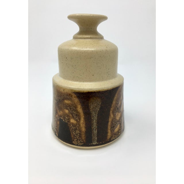 Vintage Mid-Century Ceramic Earth Tone Vase For Sale - Image 11 of 11