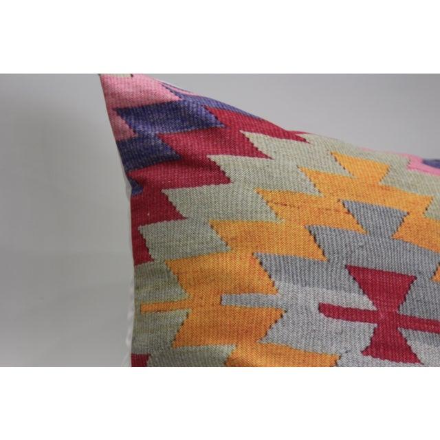 Pink Diamond Kilim Print Pillow-16'' - Image 4 of 5