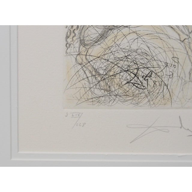 """Salvador Dali """"Pegasus"""" Reverse Plate Signed Etching C.1970s For Sale In San Francisco - Image 6 of 8"""