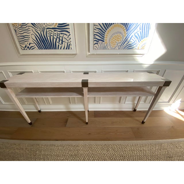 Modern Light Wood Console For Sale - Image 4 of 6