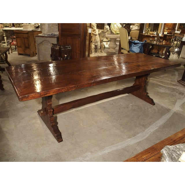 Oak Antique Italy, 19th Century Oak Dining Table For Sale - Image 7 of 11